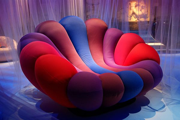 Colourful Anemone Chair by Giancarlo Zema