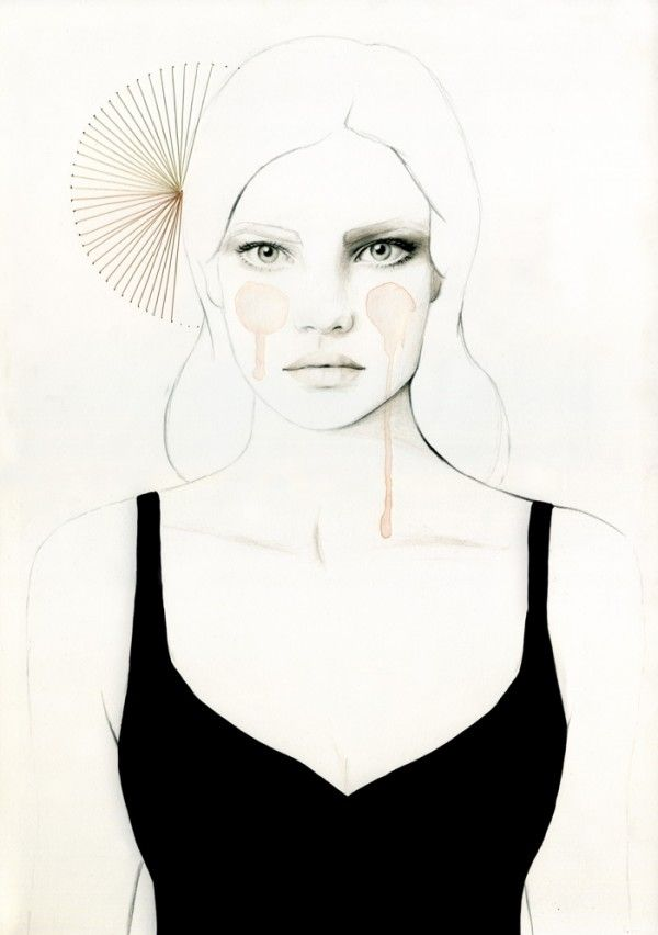 Fashionable illustrator Elisa Mazzone