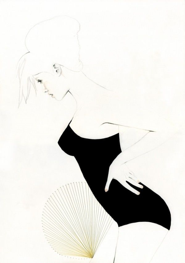 Fashionable illustrator Elisa Mazzone