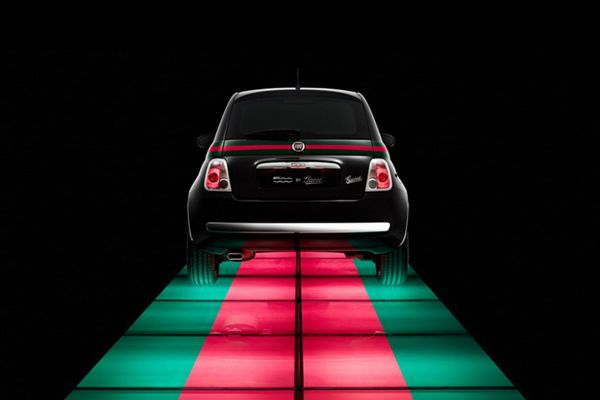 Natasha Poly presented the Fiat 500 by Gucci