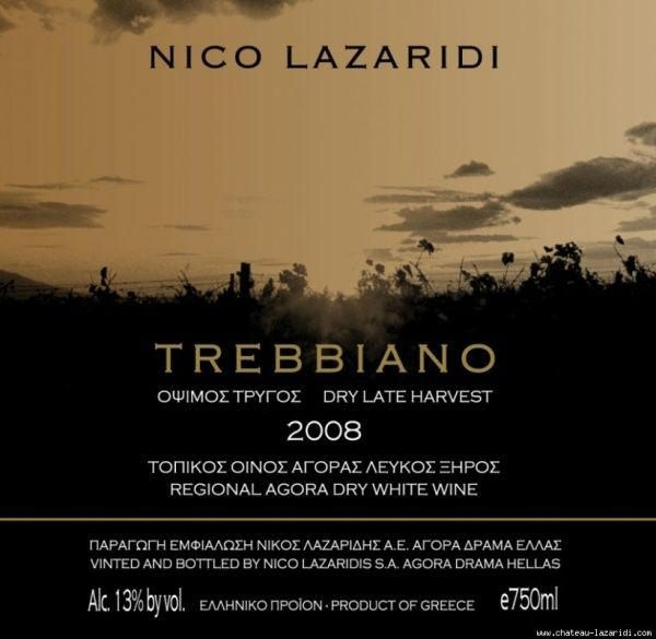 Trebbiano Nico Lazaridi Όψιμος Τρύγος 2008