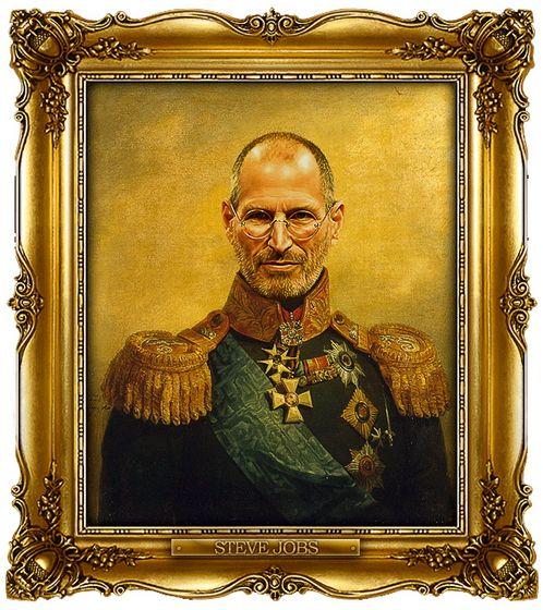 Διασημότητες παρουσιάζονται  ως ρωσική στρατηγοί - Steve Jobs