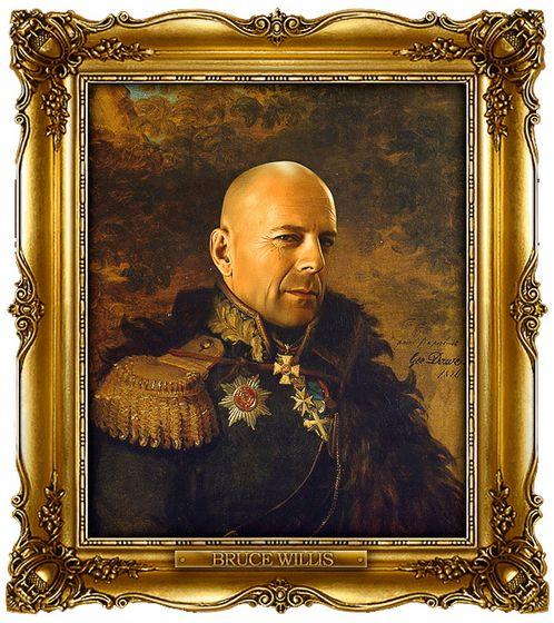 Διασημότητες παρουσιάζονται  ως ρωσική στρατηγοί - Bruce Willis