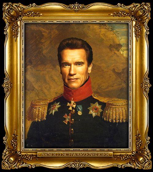 Διασημότητες παρουσιάζονται  ως ρωσική στρατηγοί - Arnold Schwarzenegger