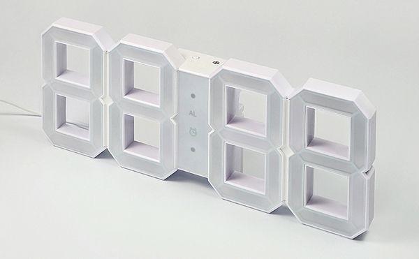 """Ρολόι τοίχου """"White & White"""" από τον Vadim Kibardin"""