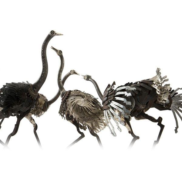 Edouard Martinet's Metal Animals Sculptures-10