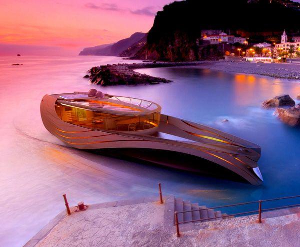 "Elegant Yacht Concept ""Cronos""-general"