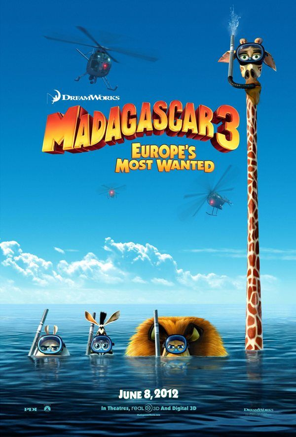 Madagascar 3- Europe's Most Wanted-poster