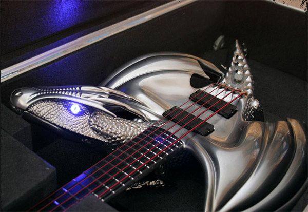 "Custom ""Draco"" Guitar by Emerald Guitars-general"