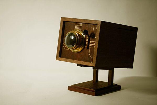 "Retro Wooden Computer ""4M""-01"