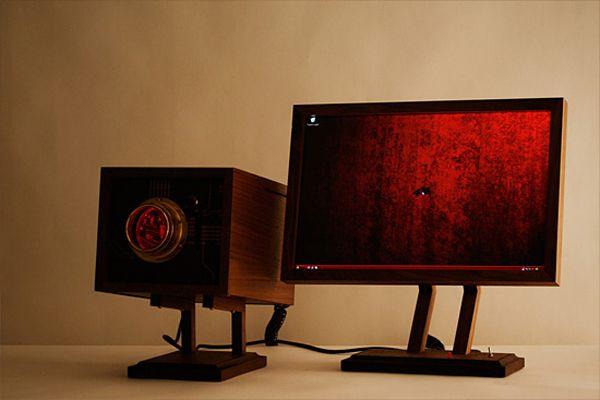 "Retro Wooden Computer ""4M""-07"