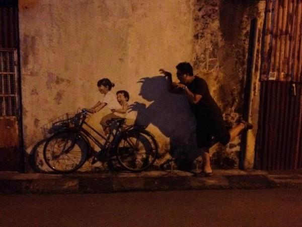 Διαδραστική τέχνη του δρόμου στην Μαλαισία