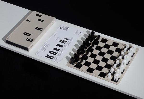 Σετ Τυπογραφικού Σκακιού από τη Hat Trick Design