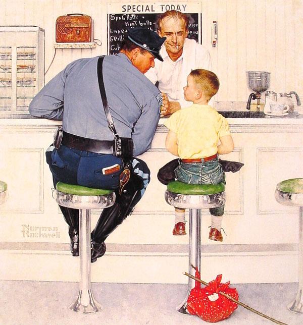 Ειρωνικές Εικονογραφίες του Norman Rockwell