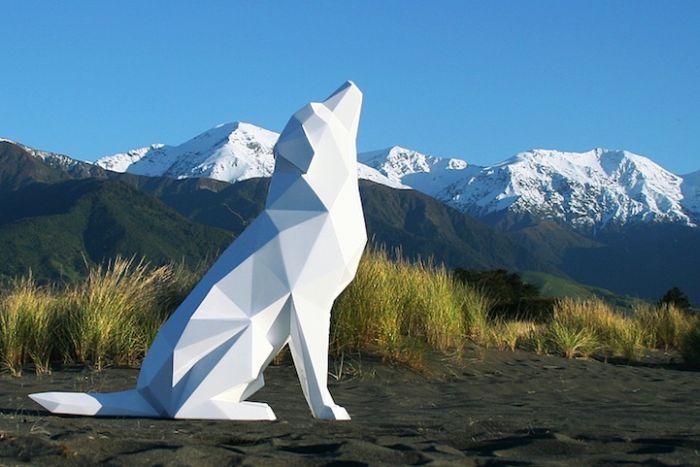 Γεωμετρικά Γλυπτά Ζώων από τον Ben Foster